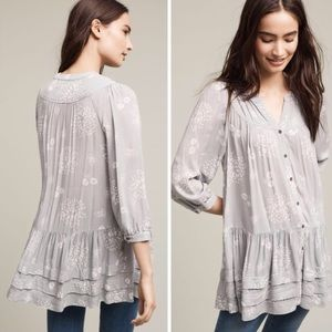 Anthropologie Holding Horses Pravin Tunic Grey L